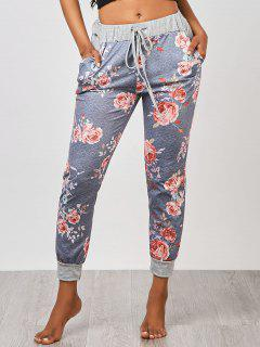 Floral Jogger Pants - Gray Xl
