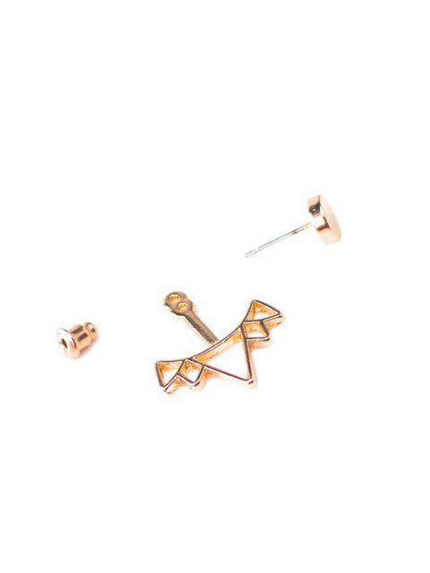 Boucles d'oreilles Rond Triangle en alliage creux - Or  Mobile