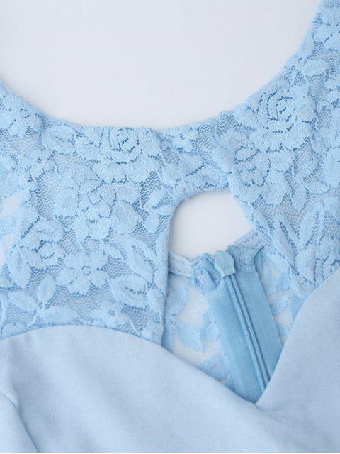 combinaison découpé en dentelle - Bleu clair M Mobile