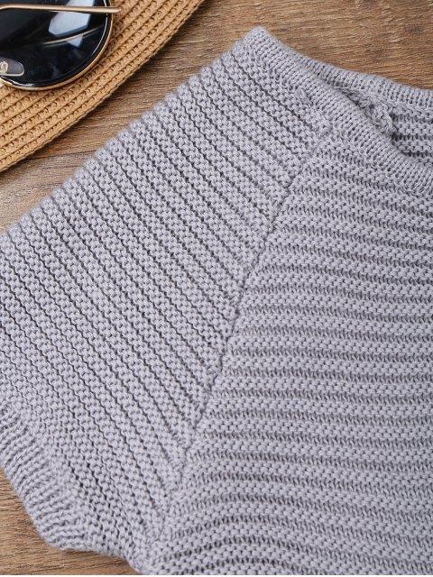 Maillot de bain en tricot découpé à une pièce avec lacets aux côtés - Gris TAILLE MOYENNE Mobile