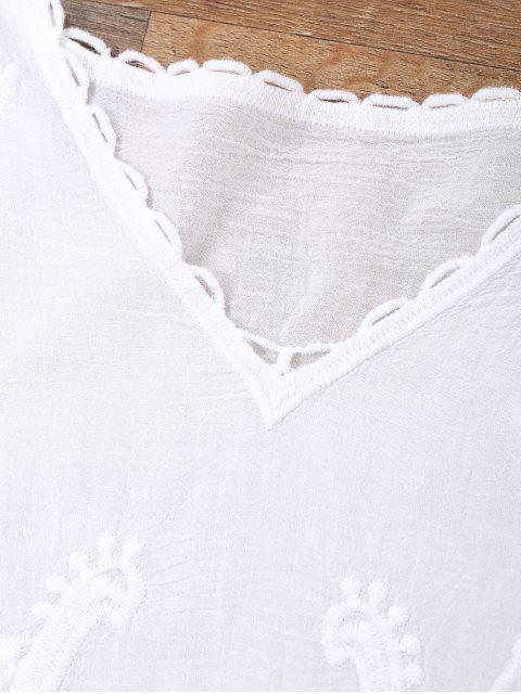 buy Open Side Beach Kaftan Cover Up Dress - WHITE ONE SIZE Mobile