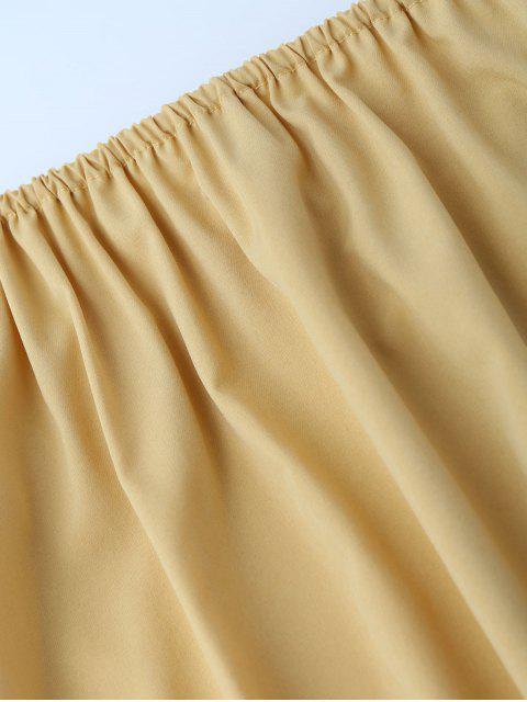Robe Évasée Épaules Dénudées - Jaune S Mobile
