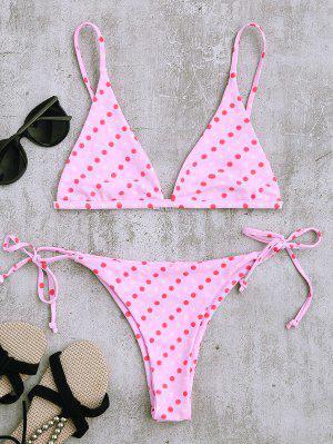 Ensemble De Bikini à Queue De Polka - Rose PÂle S