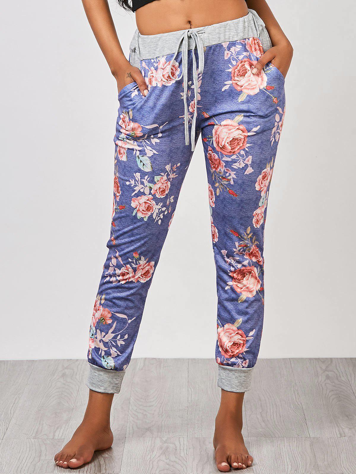 Pantalons de jogging floraux