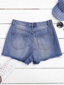 Ripped Cutoffs Denim Shorts DENIM BLUE: Shorts M | ZAFUL