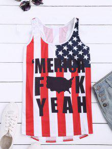 Buy American Flag Racerback Tank Top - COLORMIX L