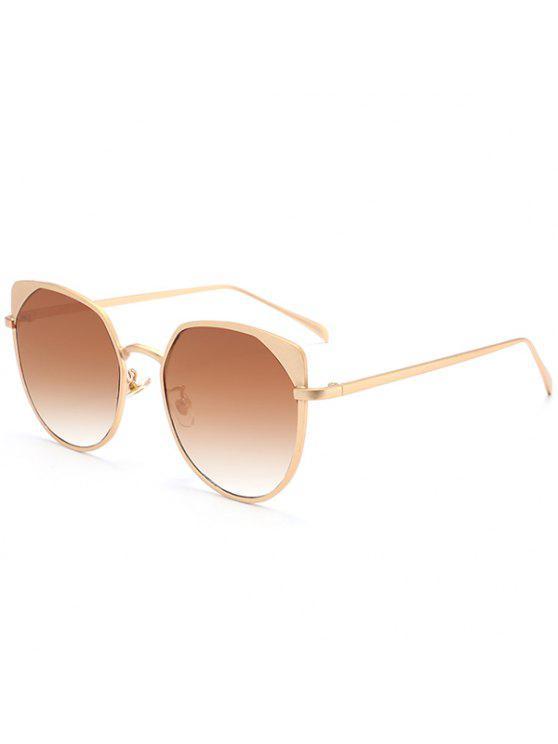 المعادن القط العين أوف حماية نظارات - الذهب الإطار + بني داكن عدسة