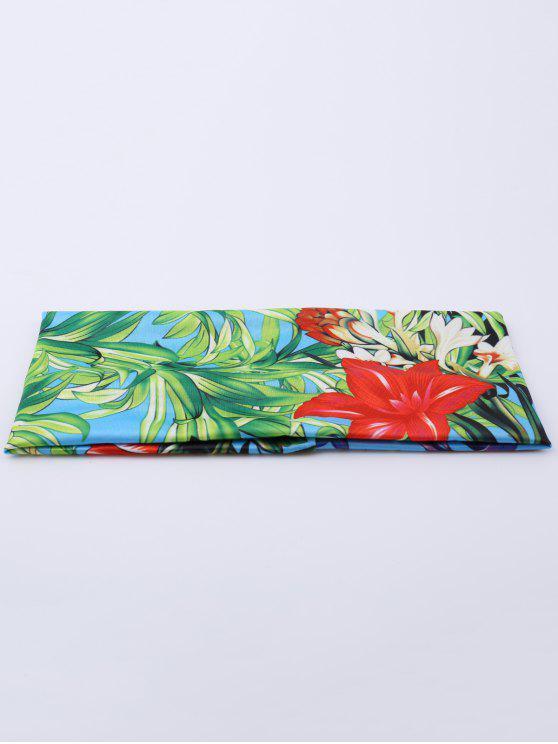 مطاطا الرقمية النافثة للحبر الأزهار الرياضة عقال - أزرق أخضر