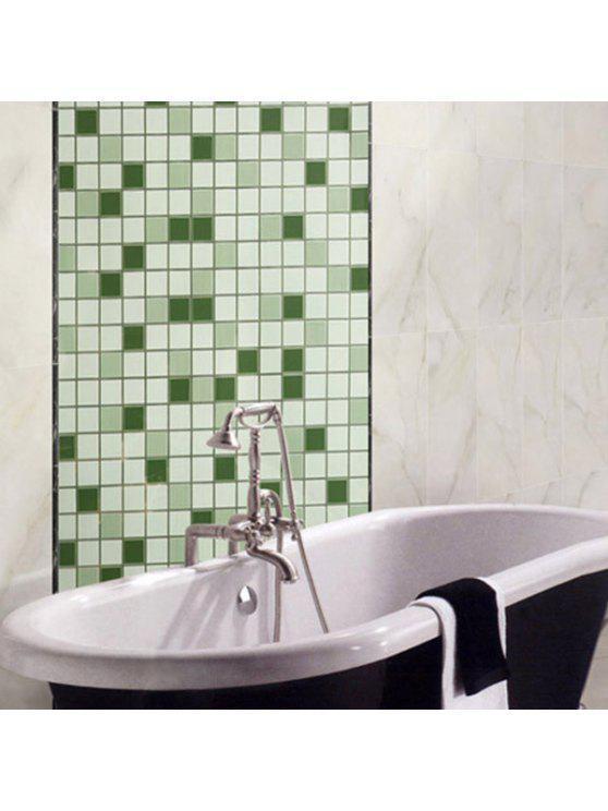 فسيفساء غريسبروف ورقة النفط الشاي المطبخ ملصقات الحائط - أخضر