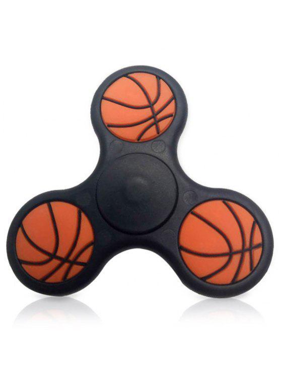 مثلث تلوين الإصبع سبينر الإجهاد لعبة كرة السلة نمط - أسود