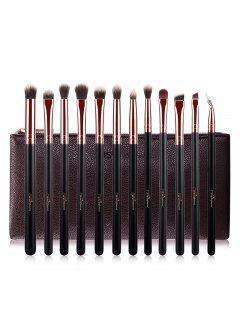 Fiber Eye Makeup Brushes Kit - Rose Gold