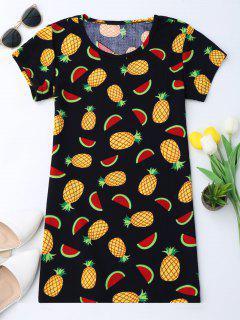 Robe Tunique à Manches Courtes En Ananas - 2xl