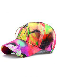 Metal Circle Digital Inkjet Floral Baseball Hat - Tutti Frutti