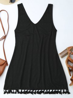 Casual Tassels Mini Dre - Black Xl