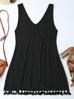 Casual Tassels Mini Dre - Black L