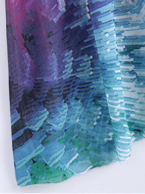 Robe de Plage Maxi en Mousseline Légère pour Vacances - Multicolore XL Mobile