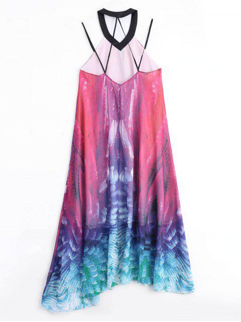 buy Flowy Maxi Chiffon Holiday Beach Dress - COLORMIX L Mobile