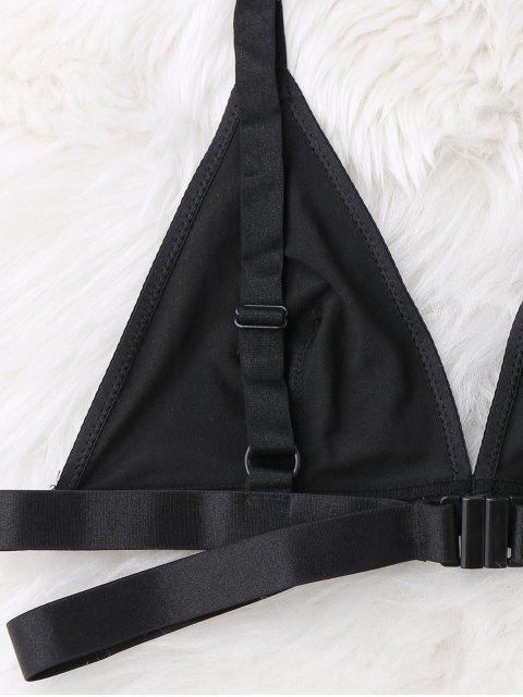 outfits Unlined Soft Bandage Bra - BLACK XL Mobile