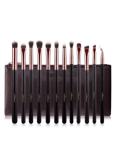 hot Fiber Eye Makeup Brushes Kit - ROSE GOLD  Mobile