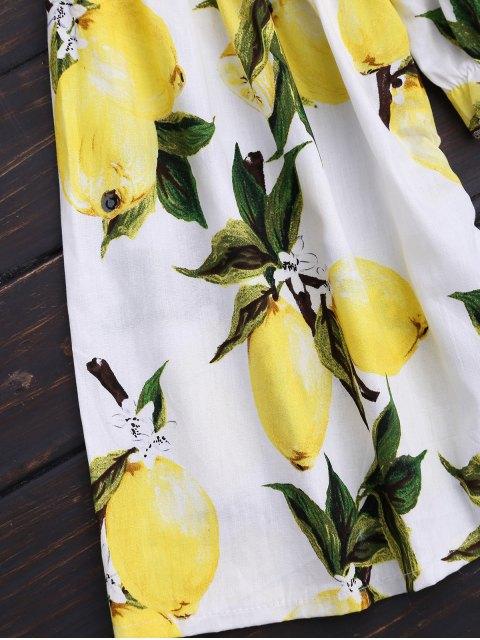 new Lemon Cropped Off Shoulder Blouse - COLORMIX S Mobile