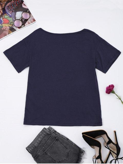 buy Cotton Pineapple Sequins T-Shirt - CADETBLUE L Mobile