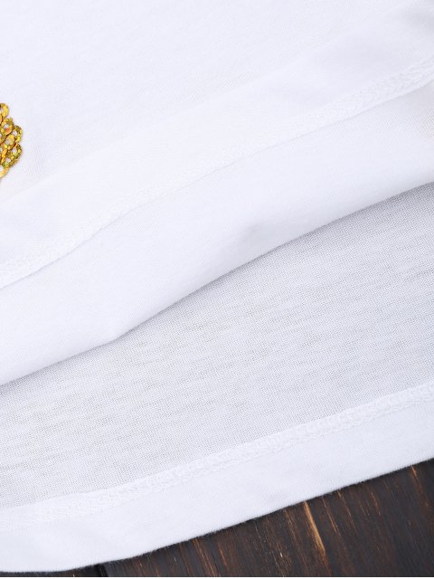 T-shirt en coton anguille d'ananas - Blanc M Mobile