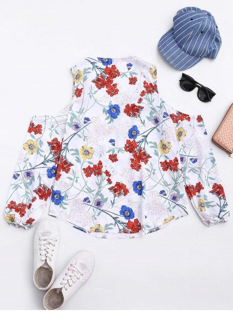 Top d'épaule froid floral - Floral S Mobile