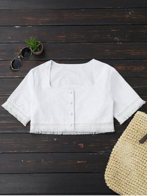 Culotte Frangée et jupe Maxi Slit - Blanc L Mobile