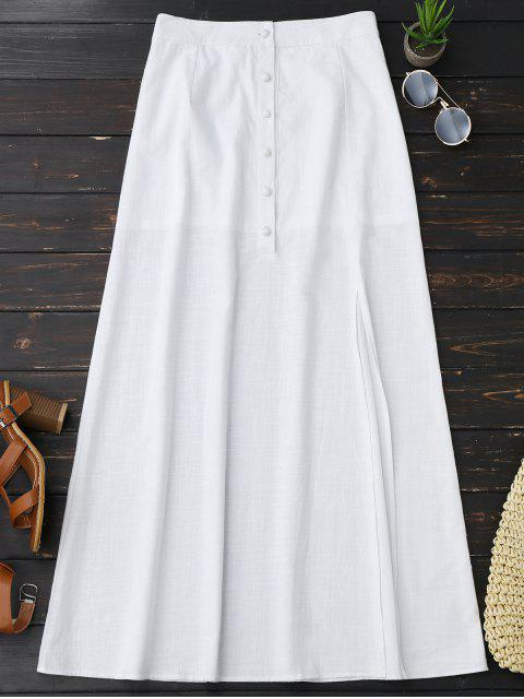 womens Fringed Crop Top and Maxi Slit Skirt - WHITE XL Mobile
