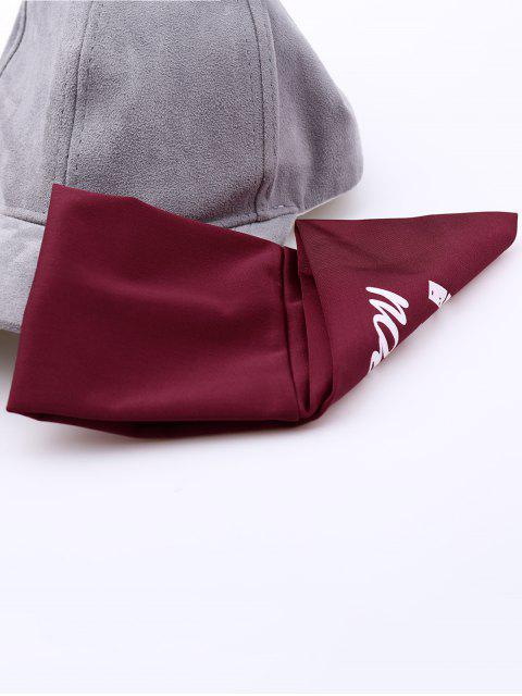 chic Athletic Letters Printing Elastic Wide Headband - RED  Mobile