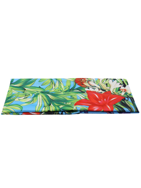 unique Elastic Digital Inkjet Floral Sport Headband - BLUE GREEN  Mobile