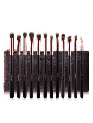 Fiber Eye Makeup Brushes Kit - Rose Gold