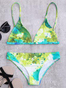 Cami Slash Imprimir Conjunto De Bikini - Multicolor M