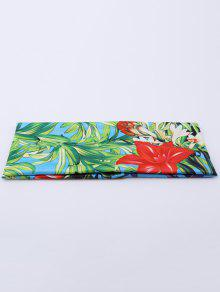 Elastic Digital Inkjet Floral Sport Headband - Blue Green