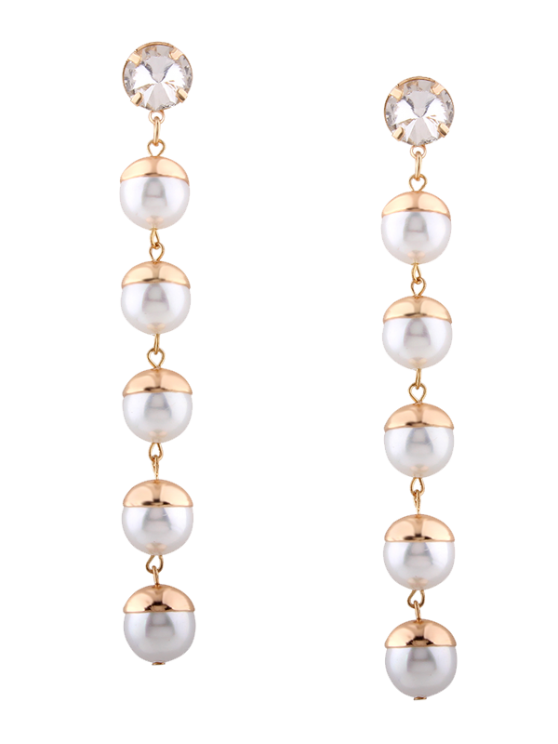 statement milan srcoi simulated string product trendy wedding created for earrings pearl pearls big long dangle elegant