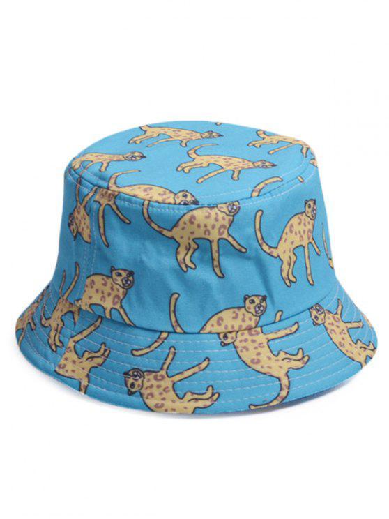 19% OFF  2019 Cartoon Leopard Printed Bucket Hat In BLUE  5f0f64e984e