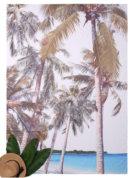 Rectangle Coco Tree Print Beach Throw - Bleu TAILLE MOYENNE