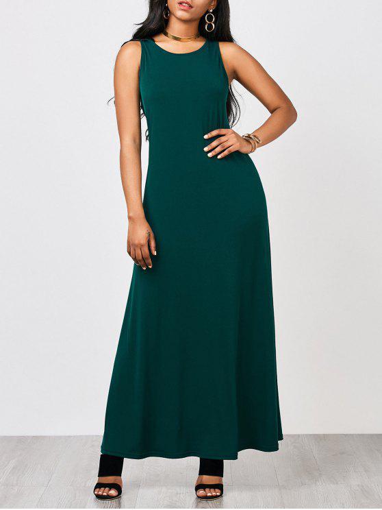 فستان ثقب المفتاح مريح ماكسي - المسرطنة XL