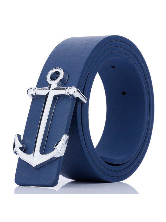 مرساة الشكل لوحة مشبك فو الجلود حزام - أزرق