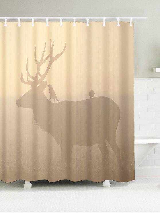2018 Deer Print Badezimmer Wasserdichte Stoff Duschvorhang von ...