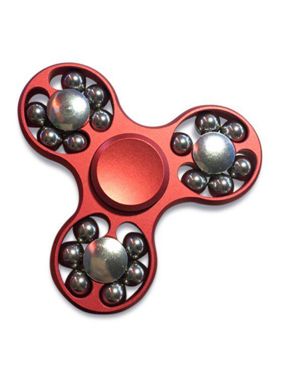 إدك فيدجيت لعبة اليد سبينر مع الخرز توالت - أحمر 7.5 * 7.5 * 1CM