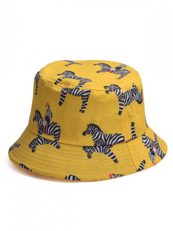 26% OFF  2019 Cartoon Zebra Pattern Bucket Hat In YELLOW  e10f73ff89e