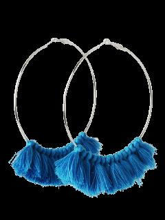 Pendientes De Aro De Metal - Azul