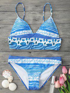 Dessus Et Bas De Bas De Bikini Avec Camembert Rembourré - Bleu S