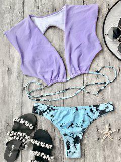 Plongez Le Bas De Bikini Et Les Fond De Cravate - Pourpre S