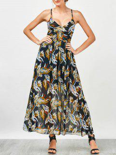 Criss Cross Floral Beach Maxi Dress - Floral M