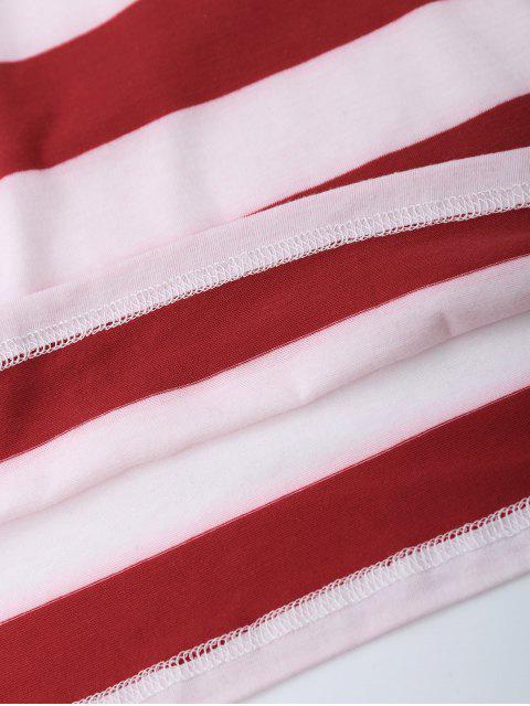 affordable Scoop Neck Patriotic American Flag T-Shirt - COLORMIX L Mobile