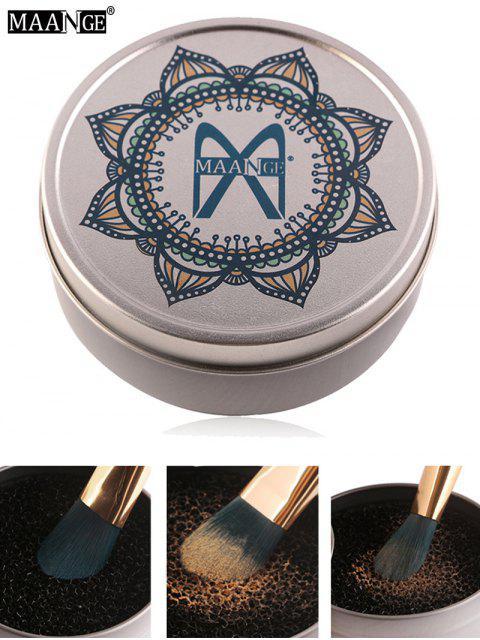 MAANGE Make-up Pinsel Trockenreinigung Schwamm-Kiste - Silber  Mobile