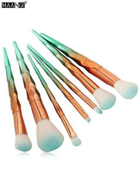 Ensemble de pinceaux de maquillage conique licorne couleur dégradée, 7 pièces - Menthe  Mobile