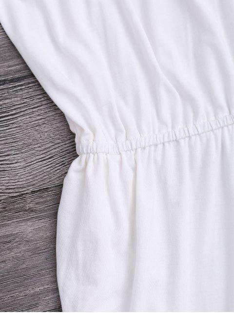 women's Tassel Cover Up Dolphin Romper - WHITE L Mobile